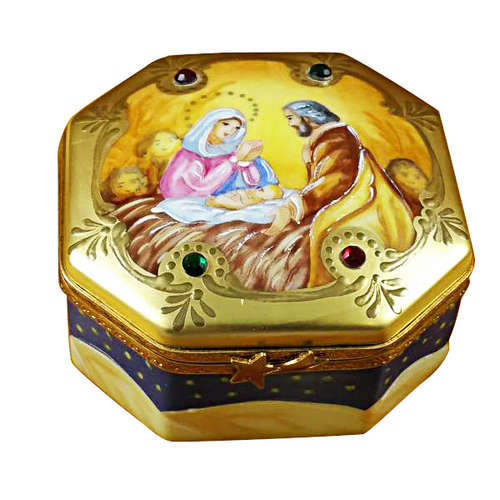 Rochard Nativity Octagon Limoges Box