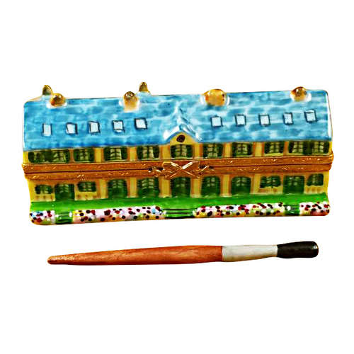 Rochard Monet's Residence at Giverny with Removable Paint Brush Limoges Box