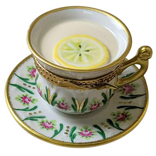 Rochard Cup of Tea - Lemon Limoges Box