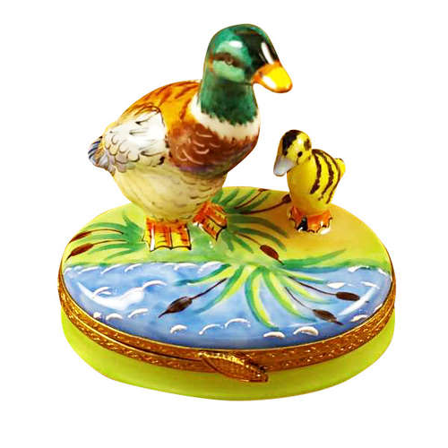 Rochard Duck with Baby Limoges Box