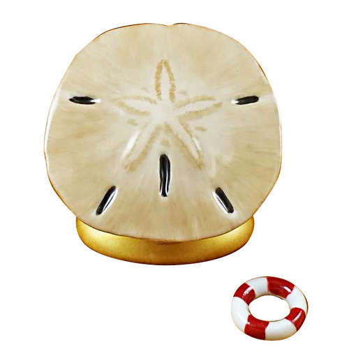 Rochard Sand Dollar with Fish Limoges Box