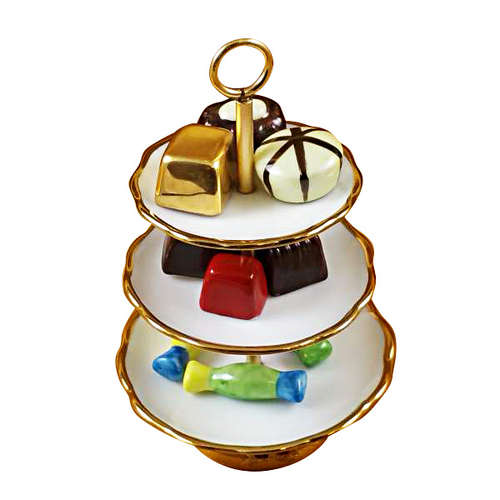 Rochard Sweet Tray with Nine Removable Candies Limoges Box