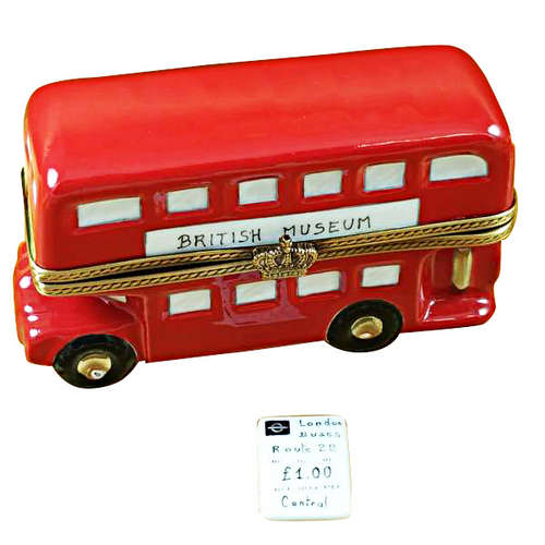 Rochard London Double Decker Bus Limoges Box