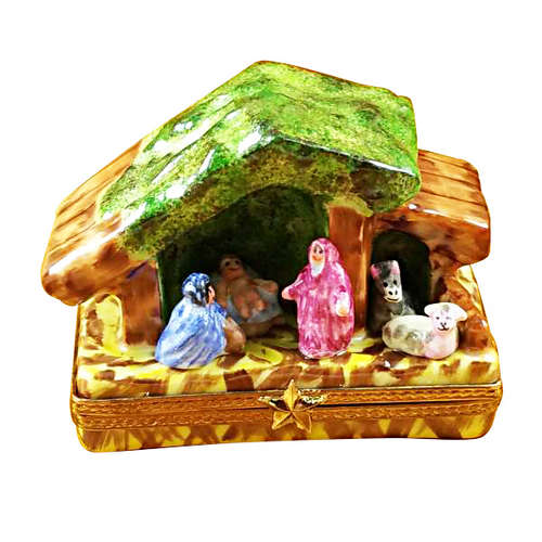Rochard Manger-Nativity Limoges Box