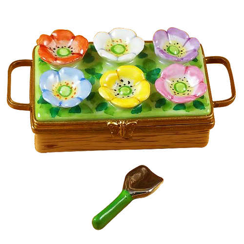 Rochard Flower Box with Spade Limoges Box