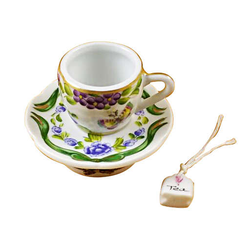 Rochard Cup and Saucer-Butterfly Limoges Box