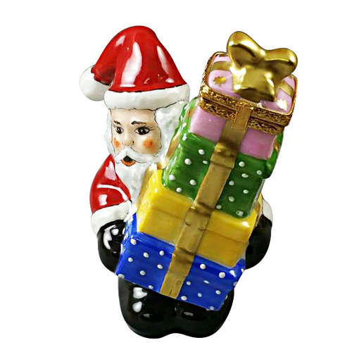 Rochard Santa with Presents Limoges Box