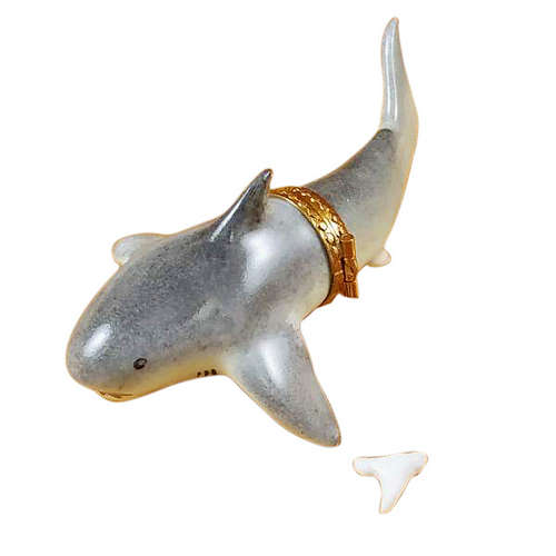 Rochard Shark with Removable Tooth Limoges Box