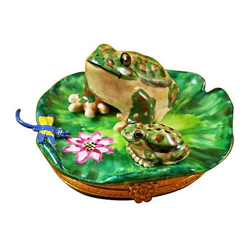 Rochard Frog and Baby Limoges Box