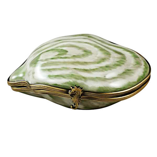 Rochard Oyster Shell with Pearl Limoges Box