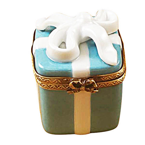 Rochard Tiffany-style Blue Gift Box Limoges Box