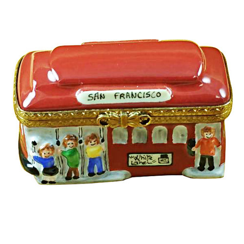 Rochard San Francisco Cable Car Limoges Box