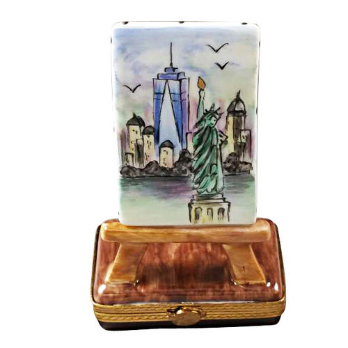 Rochard Freedom Tower Easel Limoges Box