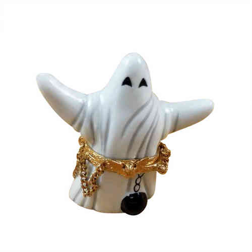 Rochard Ghost with Ball/Chain Limoges Box