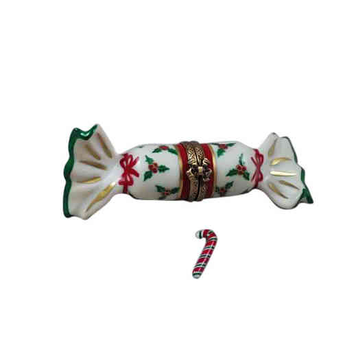 Rochard Christmas Candy with Candycane Limoges Box