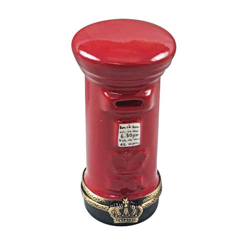 Rochard Red English Post Box Limoges Box