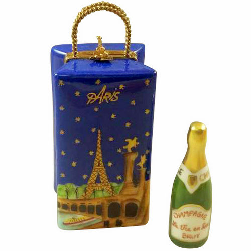 Rochard Paris by Night Gift Bag with Champagne Limoges Box