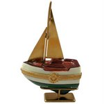 Rochard Sailboat w/ Brass Sails, Stand and Anchor
