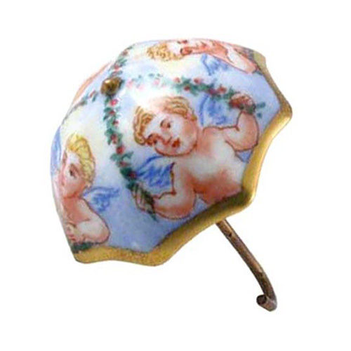 Chanille Umbrella with Angels Limoges Box