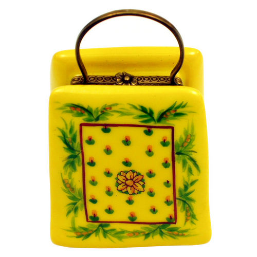 Chanille Yellow Provence Purse Limoges Box